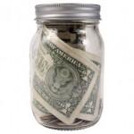 money jar, saved, savings, save