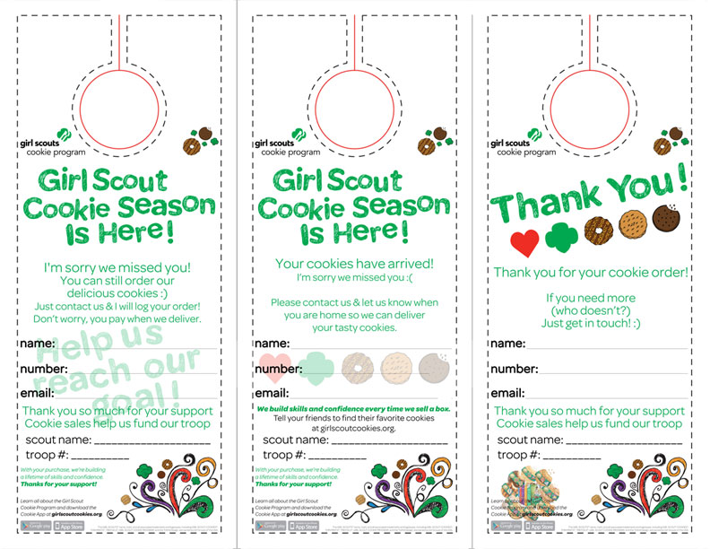 girl scout order form template - download your free girl scout cookie printable