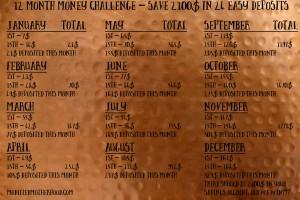 12 Month/24 Deposit Money Saver | modifiedmotherhood.com