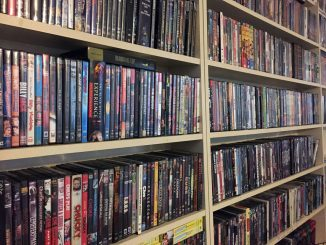 movies, Hollywood Video, shelves, excess