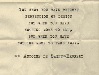 Antoine de Saint-Exupéry quote