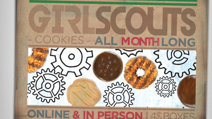 Girl Scout Cookie Flyer; tenohfour.com