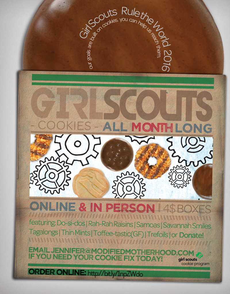 It's Cookie Time!, Girl Scout Cookie Flyer; tenohfour.com