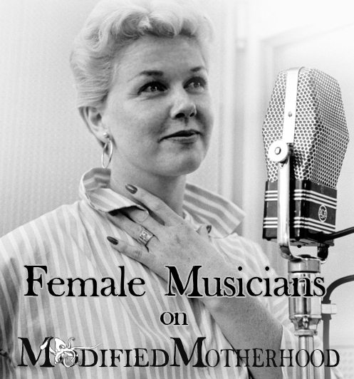 Doris Day; Female Musicians; find your new (old) favorite on ModifiedMotherhood.com!