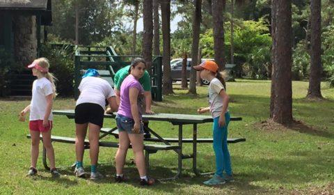 Sanding the Tables, Troop 10434 Bronze Award Work