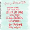 Spring Bucket List (aka things we won't do)