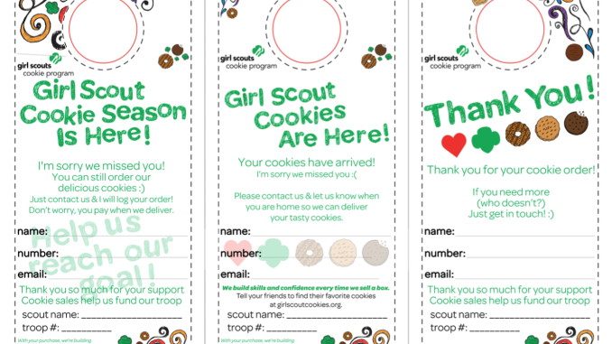 photograph about Girl Scout Cookie Order Forms Printable called No cost Female Scout Cookie Printable Up to date 2019! Adjusted